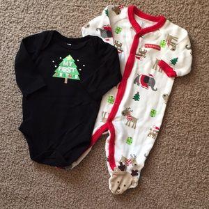 EUC First Christmas Onesie & Sleeper